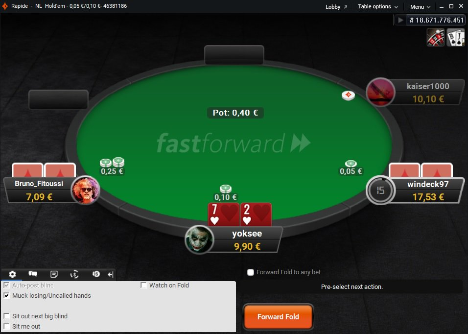 kaalulangus bet poker